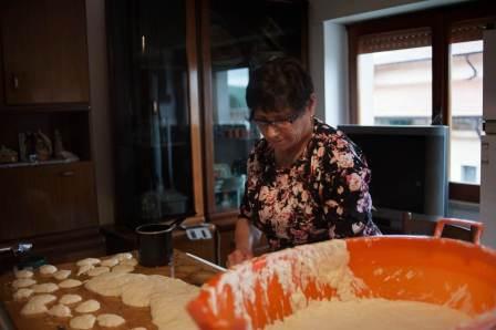 Cooking Italian food in Civitacampomarano Ctvà Street Art Festival, Italy