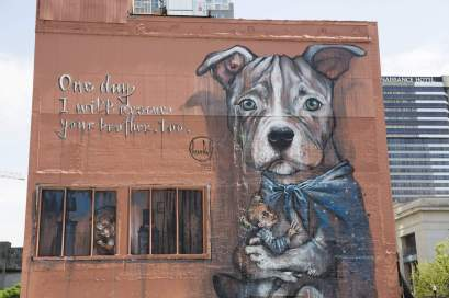 Herakut Nashville Walls Street Art Project Photo © Colin M Day