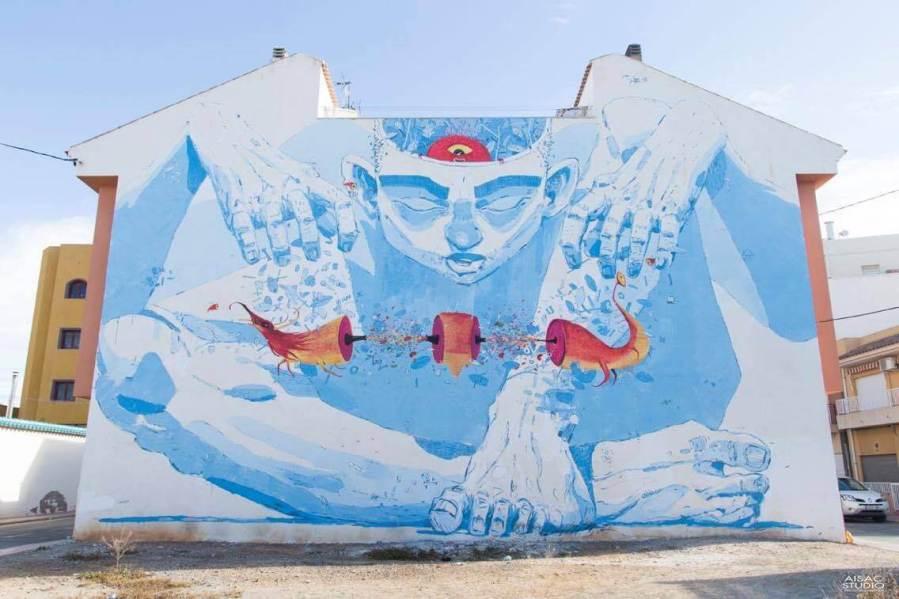 El Pincho and Daniel Montero Galvan Street Art festival Mar Menor Los Alcazares
