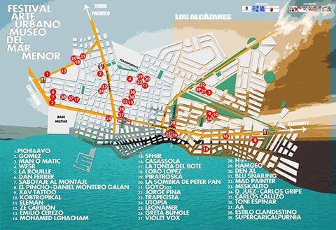 Los-Alcázares-Mar-Menor-Street-Art-Festival-arte-urbano-2016-map