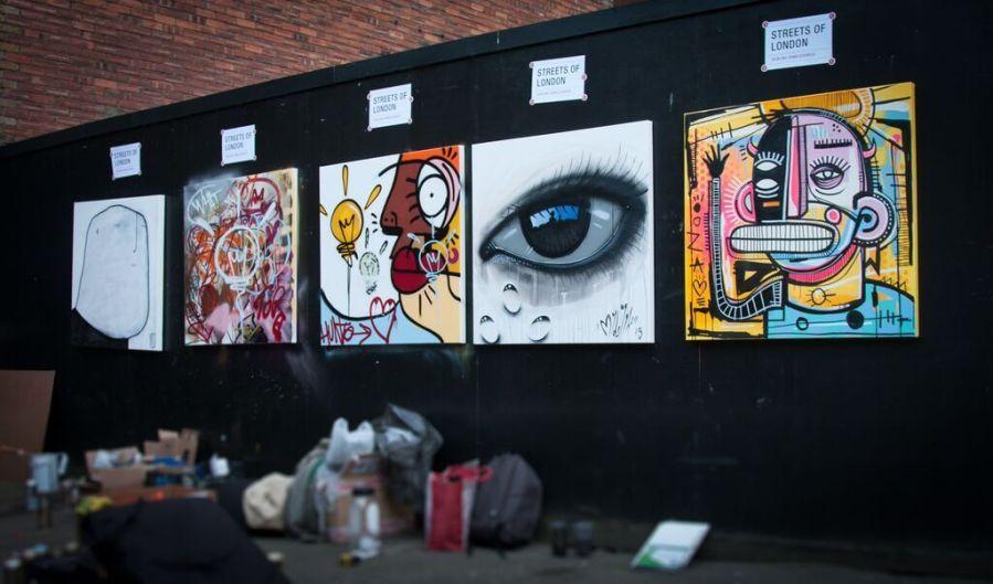 GraffitiStreet Urban show Streets of London, Tackling Homelessness