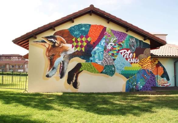 Popek & Tank, 10eme Street Art Festival, Aurillac, France