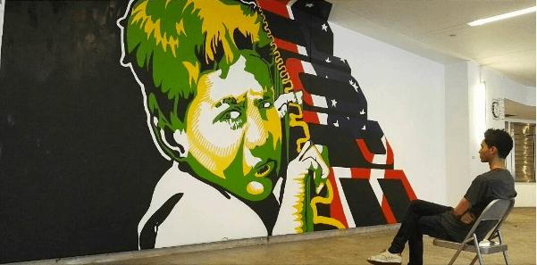 Jose Maradiaga-Andrade, RFK Street Art Mural Photo © Birdman photos