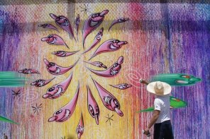 Kenny Scharf, RFK Street Art Mural Photo © Branded Arts