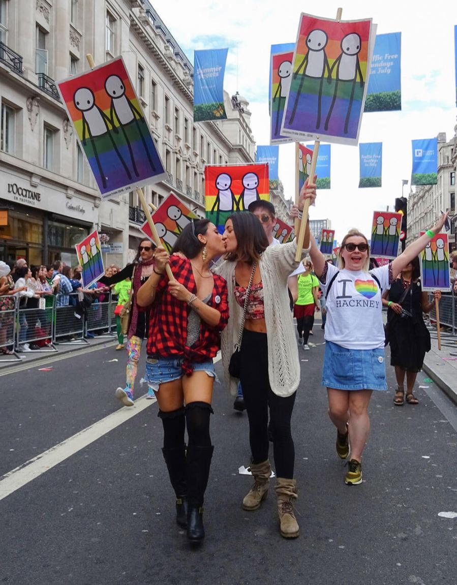 Street artist Stik, Pride in London 2016. Photo © Stik