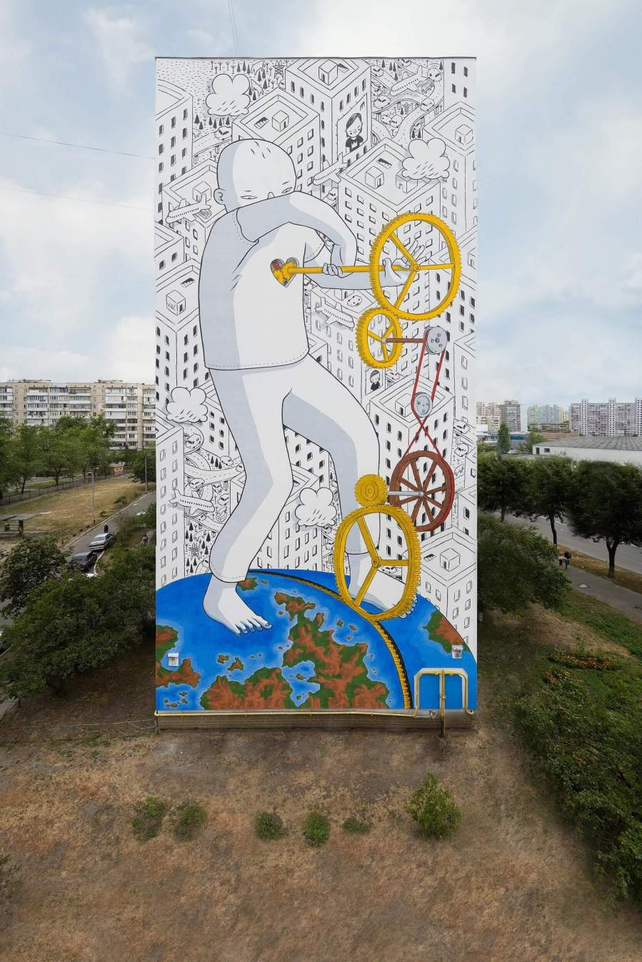 Millo, Mural Social Club Street Art Festival, Kiev. Photo credit Maksim Belousov