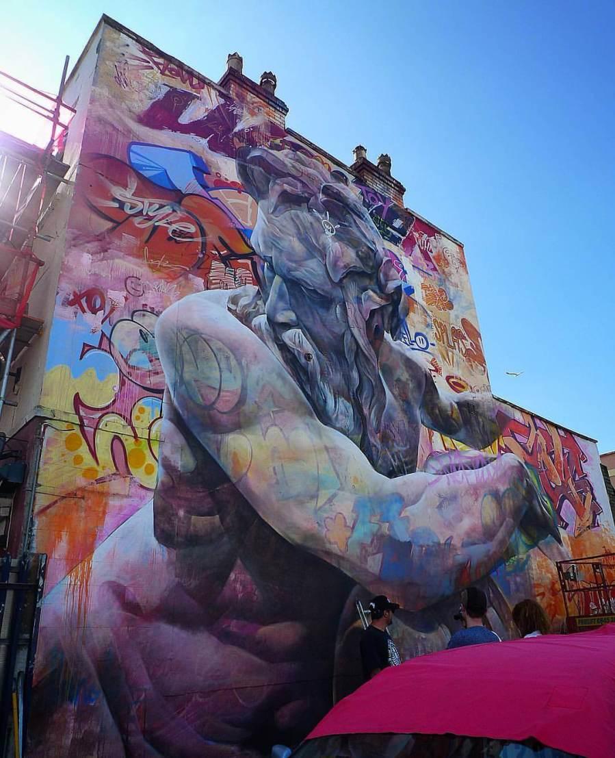 Pichiavo - Zeus - Upfest Street Art Festival, Bristol 2016 © Mikey Dread