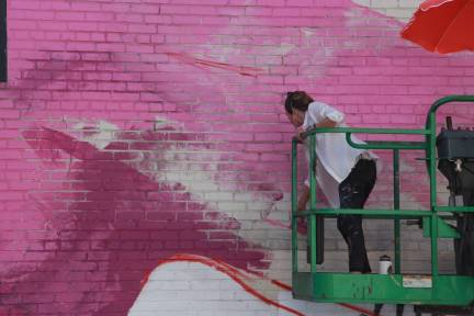Taylor White, Richmond Mural Project 2016 Photo credit TostFilms