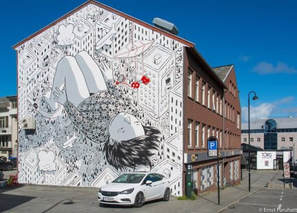 Millo, UpNorth Street Art Festival, Bodø, Norway