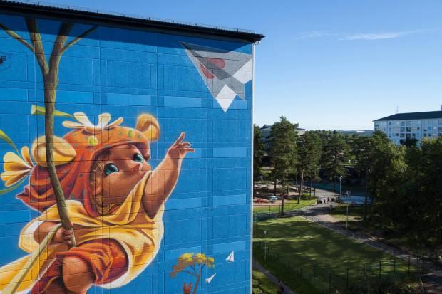 ANIMALITOLAND, Artscape Gothenburg Street Art Festival 2016. Photo Credit Fredrik Åkerberg