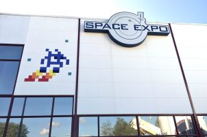 European Space Agency ESTEC Holland space invader street art 2