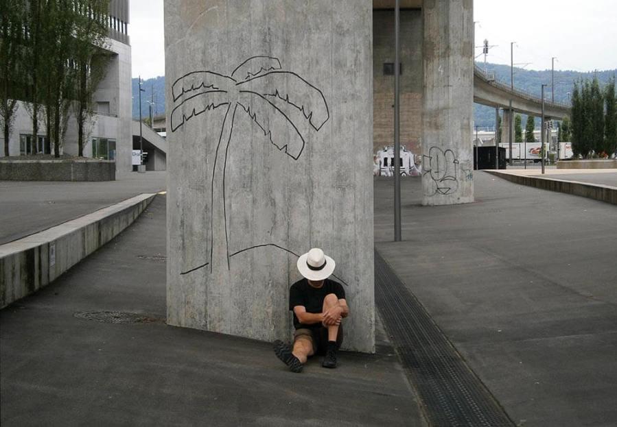 Harmen de Hoop - Deserted island, Public art, Zurich. Photo credit Harmen de Hoop