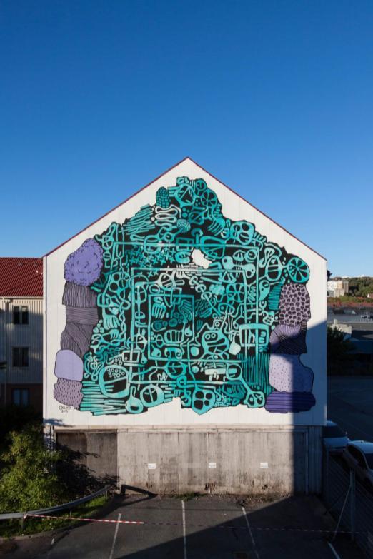 OLLIO, Artscape Gothenburg Street Art Festival 2016. Photo Credit Fredrik Åkerberg