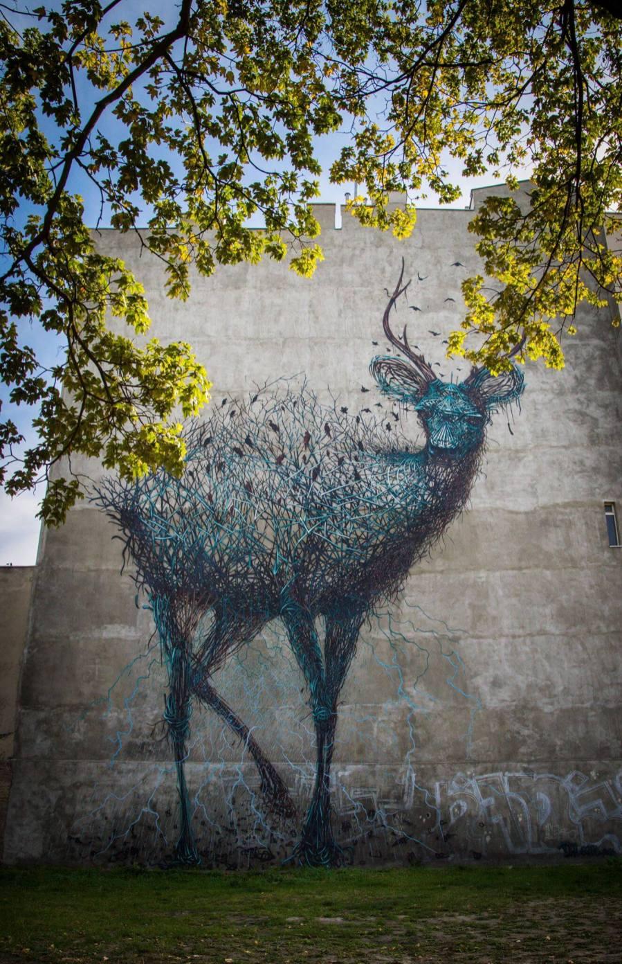 Daleast, Urban Forms street art gallery, Lodz, Poland. Photo credit M. Sikora