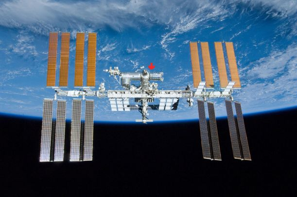 iss International Space Station and the Columbus module : Photo - NASA space invader