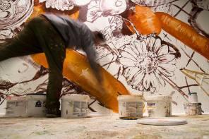 Fintan Magee, Nuart Post 2016. Street Art Exhibition. Photo credit Ian Cox