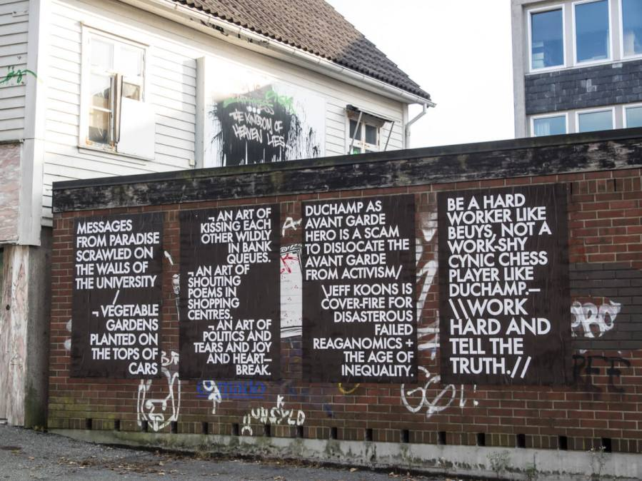 Robert Montgomery, Nuart Festival, Norway 2016. Photo credit John Rodger