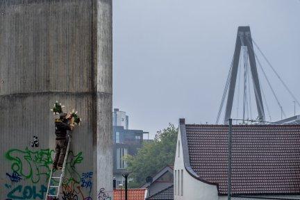 Jaune. Nuart 2016, Stavanger, Norway. Photo credit Brian Tallman.