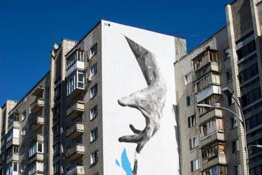 Street Artist INO, Kiev, Ukraine 2016. Photo credit Ino and @dronarium