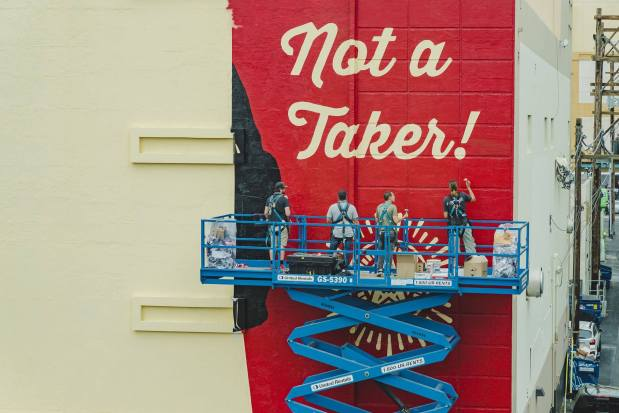 Shepard Fairey - Life is Beautiful Street Art Festival - Downtown Las Vegas - Photo credit JustKids