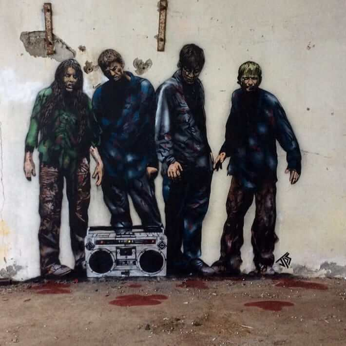 JPS- DeadBeatz Street Art. Photo Credit JPS