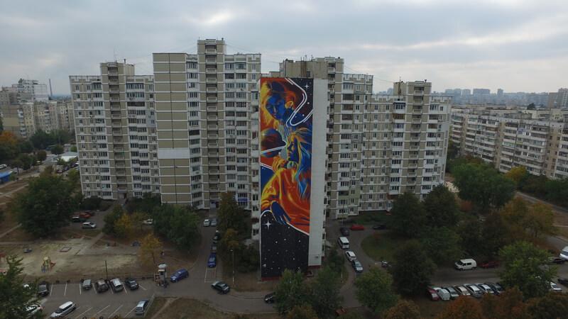 Dourone, Art United Us, Street art Kiev, Ukraine. Photo credit @Dronarium