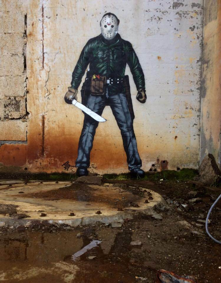 JPS- Jason Voorhees Street Art. Photo Credit JPS