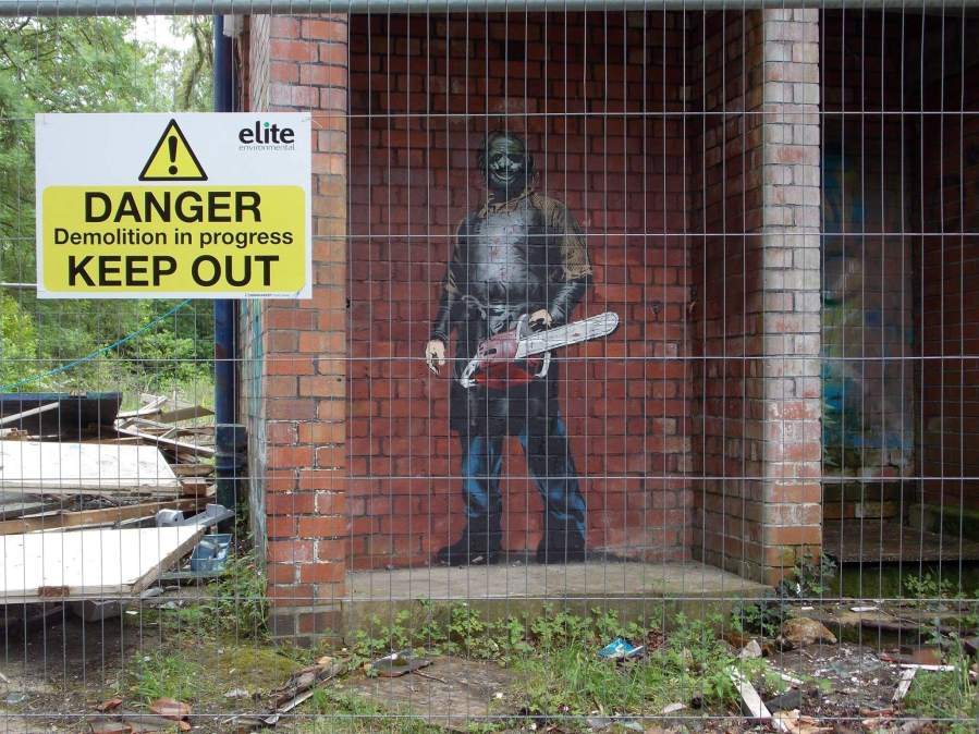 JPS - LeatherFace street art. Photo Credit JPS