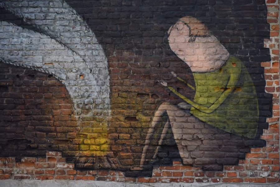 Bisser, Smoke signal, Street art Leuven