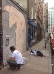 Bisser Underground 2016 Street art Shoreditch.