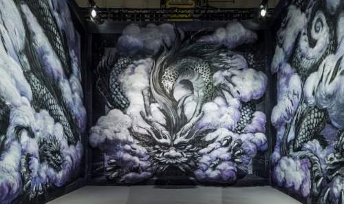 Qi Xinghua, Magic City, Street Art Exhibition, Dresden, Germany. Photo Credit Rainer Christian Kurzeder