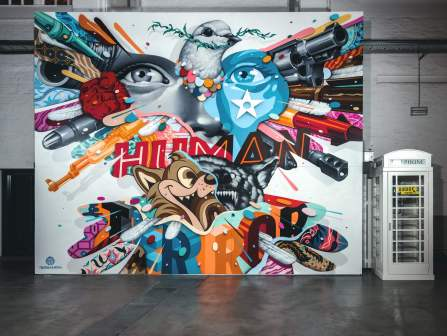 Tristan Eaton, Magic City, Street Art Exhibition, Dresden, Germany. Photo Credit Rainer Christian Kurzeder