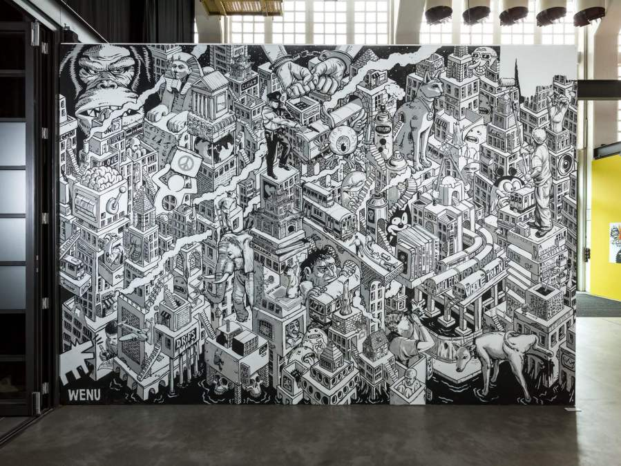 Wenu, Magic City, Street Art Exhibition, Dresden, Germany. Photo Credit Rainer Christian Kurzeder
