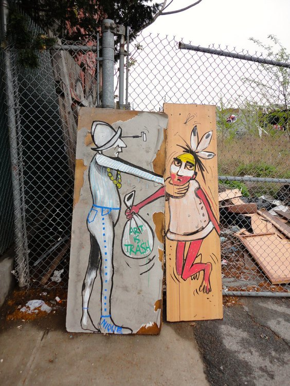 Art is Trash, New York City Street Art. Photo Credit Art is Tra$h