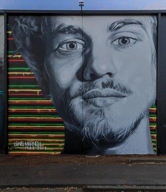 Dvate, Street Art Mural, Fitzroy, Melbourne, Australia 2016. Photo credit p1xels.