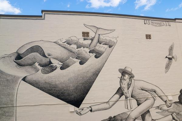 Waone of Intereski Kazki, Street Art Mural, Jacksonville Florida 2016. Photo Credit Iryna Kanishcheva.