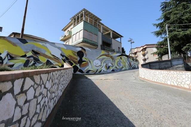 Giorgio Bartocci, NOSTOI Fest, Street Art Festival, Gerocarne, Italy Photo Credit Bruno Arena