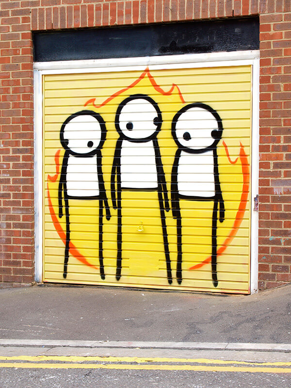 Stik, Street art piece 'Children of fire'