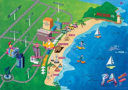 Pattaya-Arts-Festival-Pattaya-beach-thailand-map