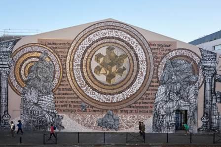 Said-Dokins-Monkey-Bird-street-art-mural-france-leo-luna-