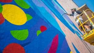 Bicicleta Sem Freio Lodhi Street Art District, India Photo Credit Akshat Nauriyal