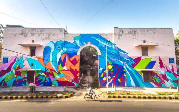 Bicicleta Sem Freio, Lodhi Street Art District, India. Photo Credit Akshat Nauriyal