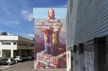 Fintan Magee, Paradox Tauranga Street art Festival 2017. Photo credit Luke Shirlaw
