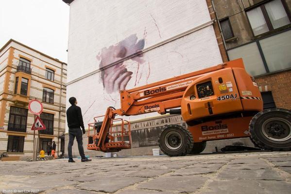 Henrik Uldalen, The Crystal Ship Street Art Festival 2017, Photo Credit Ian Cox