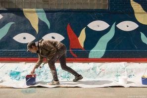 Hell'O Collective, The Crystal Ship Street Art Festival 2017, Photo Credit Ian Cox