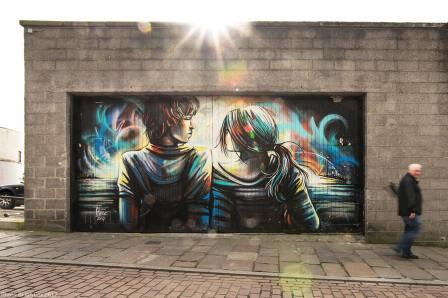 Alice Pasquini, Nuart Aberdeen Street Art Festival 2017. Photo Credit Ian Cox