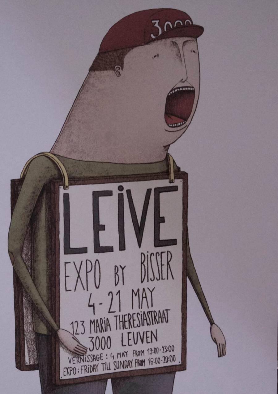 Bisser, Solo Show 'Leive', Leuven 2017. Photo Credit Paul Burgoine
