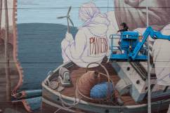 Pat Perry, Seawalls: Artists for Oceans, Napier, NZ. Photo Credit Vinny Cornelli