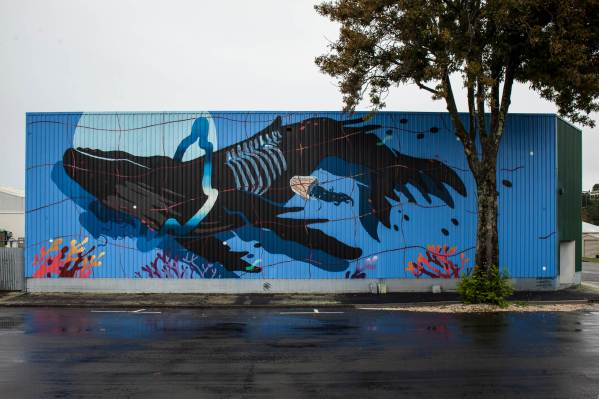 Sabek, Seawalls: Artists for Oceans, Napier, NZ. Photo Credit Tré Packard