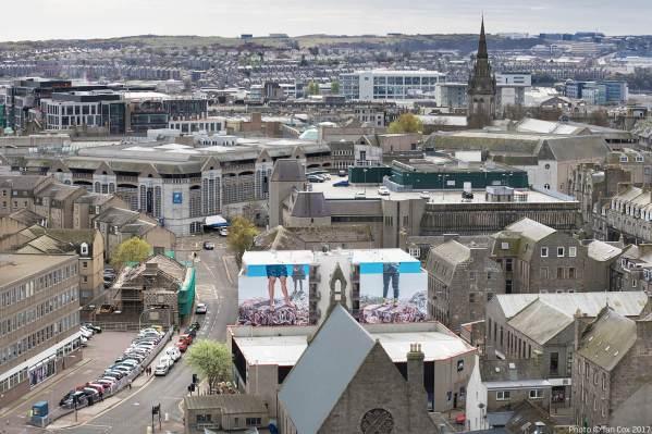 Fintan Magee, Nuart Aberdeen Street Art Festival 2017. Photo Credit Ian Cox